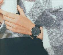 Модные пару часов дамы водостойкие студент корейской версии простой случайные кварцевые мужские часы 2018 новый высокого качества