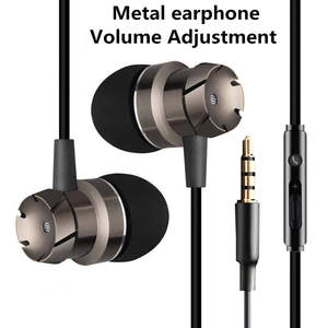 3.5mm Stereo Headset Headphone Microphone Sport Bass Sound Earphone for IOS