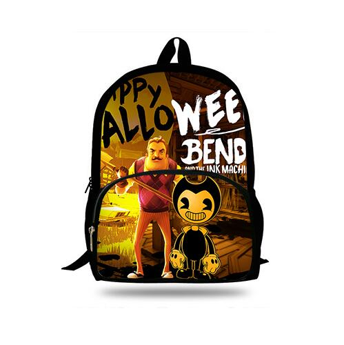 16-inch Mochila School Backpack Hello Neighbor Funny Game Printing Children School Bags Boys Teenage Girls Casual Backpacks