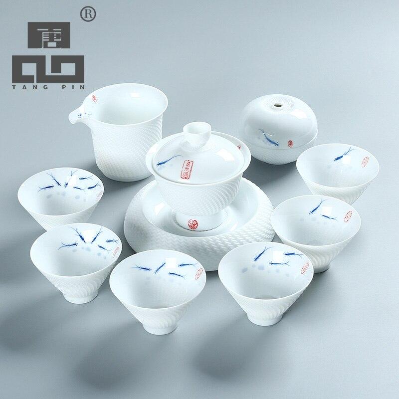 Théière en céramique TANGPIN bouilloire gaiwan thé à thé poisson en céramique ensemble de thé chinois kung fu