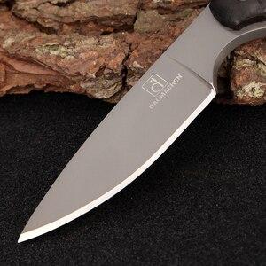 Image 3 - 2017 Full Tang najnowszy nóż taktyczny Survival wyposażenie na kemping kolekcja noże myśliwskie z importowaną osłoną K jako gife