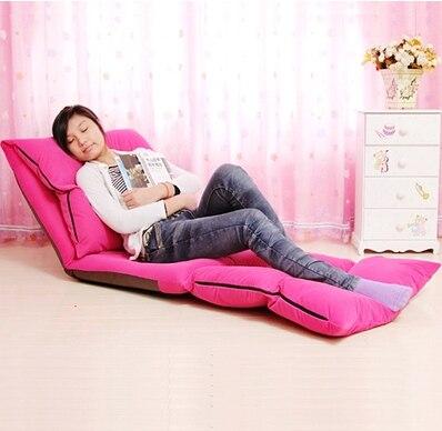 Longer Beanbag Sofa Chair Tatami Floor Single Lazy Folding Bed Bay Window