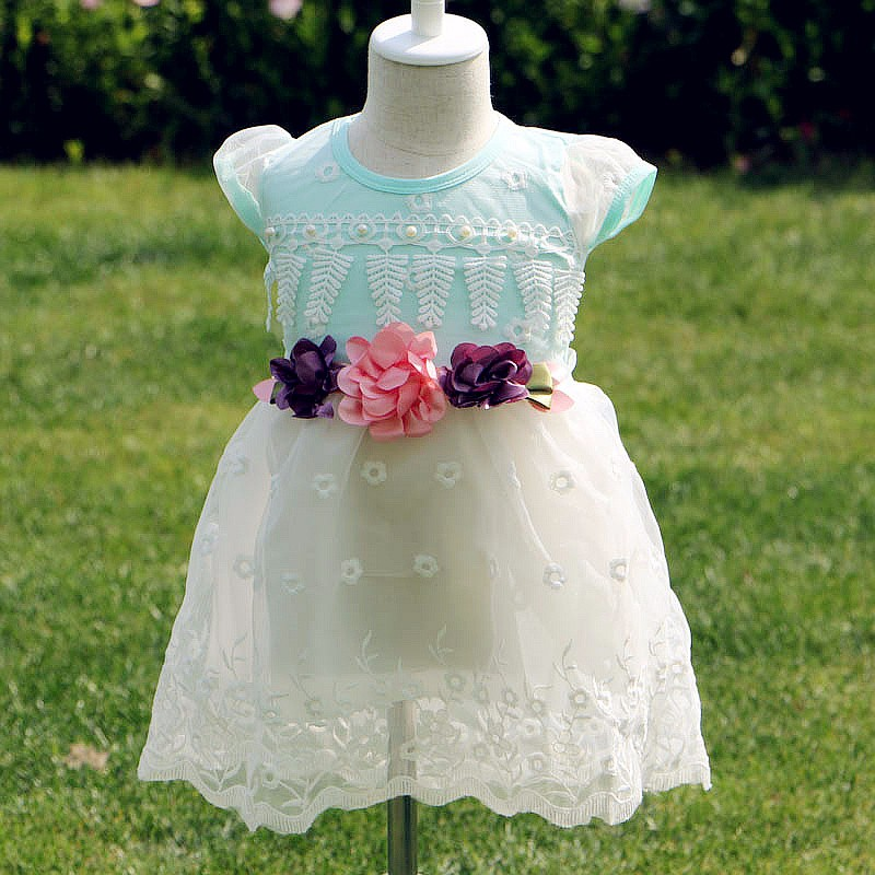 New Children Girls Dress Summer 2017 Kids Dresses For Girls Clothes Cute Baby Flowers Party Dresses Fashion Princess Costume