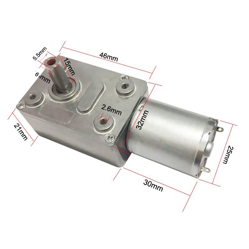 Bringsmart JGY-370 Worm Gear Motor 6v High Torque 12V DC Motor Low Speed 12 Volt Reducer Micro Self-lock Electric Motor dc 12v 10a gw80170 worm gear reducer electric motor large torque high power low speed