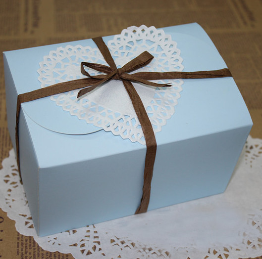 Wedding Favor Boxes For Cookies : Blue Candy Box Party Wedding Favor,Bakery Gift Cookie Cup Cake Box ...