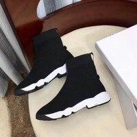 Женская эластичная ткань Брендовая обувь женские носки на плоской подошве платформа дышащая походная обувь сетка легкие женские ботинки д