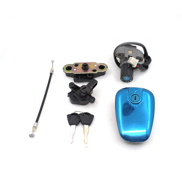 2088 Motorcycle 6 Wire Ignition Switch Lock+Fuel Gas Tank Cap Cover +Storage  Box