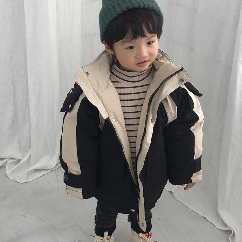 ... Корейская версия 2018 года, новая зимняя стеганая куртка-пуховик для  мальчиков и девочек 1 ... 0f950c0dde0