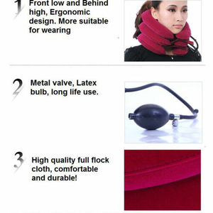 Image 5 - Aufblasbare Halskrause Hals Relief Traktion Klammer Unterstützung Keil Gerät