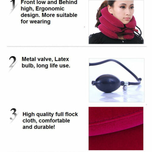 Image 5 - Inflatable Cervical Collar Neck Relief Traction Brace Support Stretcher Device-in Body Pillows from Home & Garden