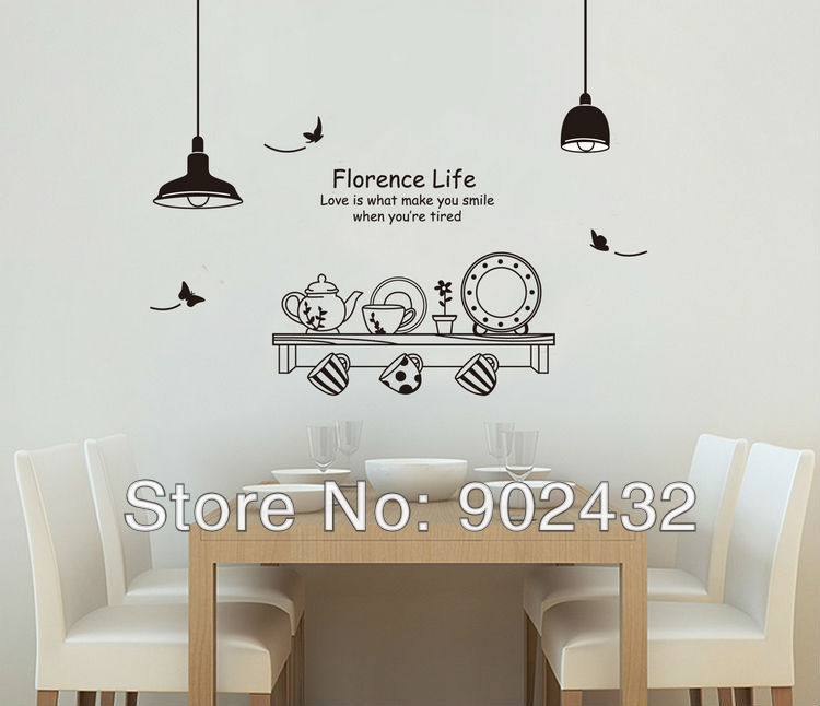 design vinyl wall stickers coffee tableware home decor wall decals