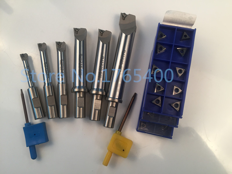 New 6pcs indexable boring bar with 18mm shank boring bar for boring tool and 30pcs Boring