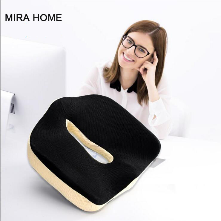 Memory Foam Car Orthopedic Seat Cushion Chair Office Bottom Seat Massage Healthy Care Sitting Cushion Men Women Pillows Pad C-16