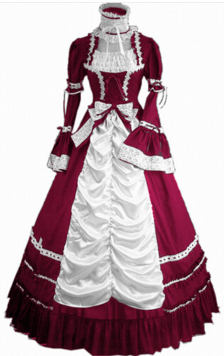 (LL81) les 2016 nouvelles femmes robe d'été partie gothique victorien Lolita robe Halloween doux Costumes victorien Halloween pour les filles