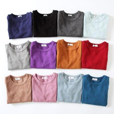 2-9 Y Estilo Ocidental Meninas Dos Meninos Camisetas 23 Cores 2019 Nova Primavera Inverno Sob A Camisa Crianças de Algodão Puro macio Longos T Camisas de Manga