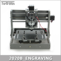 PCB Milling Machine CNC 2020B DIY CNC Wood Carving Mini Engraving Machine PVC Mill Engraver Support MACH3 System.