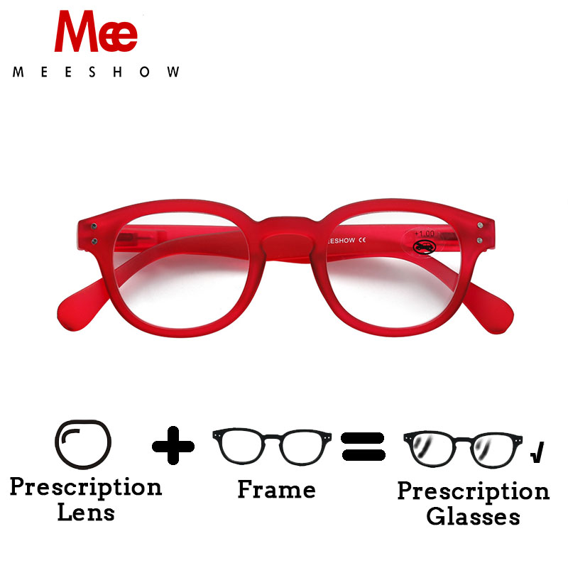 2018 MEESHOW Europe style   Men women eyeglasses quality optiker  brille with customized lens 1513