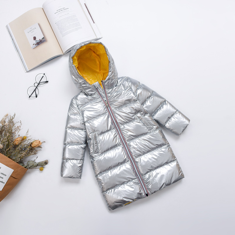 Children X-Long Down Jackets 2018 Winter Boys and Girls Parkas Coats Kids White Duck Down Outerwear Boys Down Jackets Girl Coats