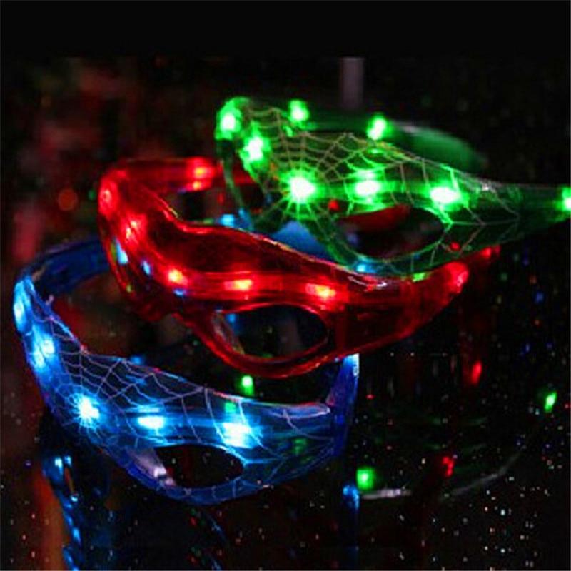 10ks / lot Party dekorace LED Spiderman brýle narozeniny dárek vánoční LED zářící brýle Party dodávky