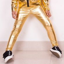 Nuovi Capretti di Modo Oro Harem Hip Hop Dance Pantaloni abbigliamento Per  Bambini Della Tuta Costumi di Prestazione Bambino spo. fb0473c0d157