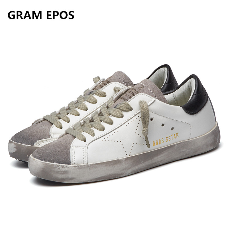 GRAM EPOS Designer Golden pu leather Casual Men trainers Sport Star dirty do old Shoes Footwear Zapatillas basket femme tba brand designer 2018 italy golden genuine leather casual women shoes trainers goose star breathe shoes footwear zapatillas
