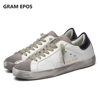 New Fashion Brand Designer Italy Golden Genuine Leather Casual Men Shoes Goose All Sport Star Breathe