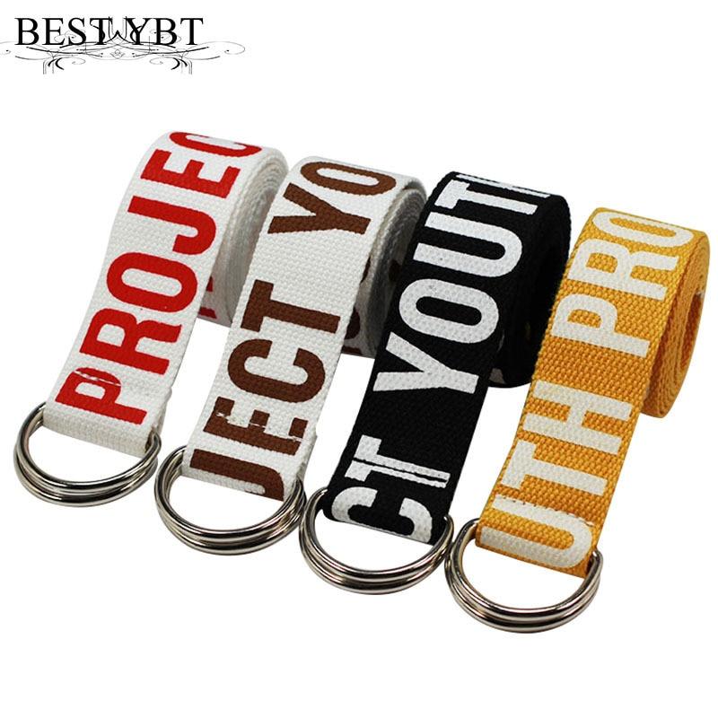 Best YBT Unitsex Canvas belt D shaped dos