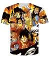 Dragonball / наруто футболка Harajuku с коротким рукавом 3D майка печатный топы свободного покроя tshirt мужчины женщин camisetas Большой размер M-XXL