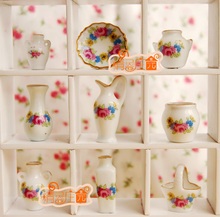 Mini dollhouse Mini furniture accessories small pieces of Phnom Penh flower vase nine sets