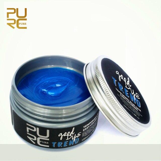 1pc PURC 100ml Temporary Hair Dye Cream Blue Hair Color Wax Mud Hair ...