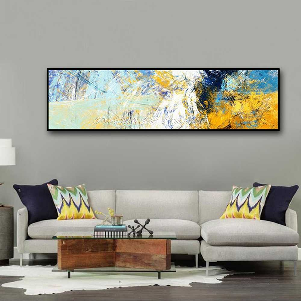 Mintura Hand Painted Canvas Oil Painting Color Code Picture Abstract Wall Art Home Decor Wall Paintings For Living Room No Frame
