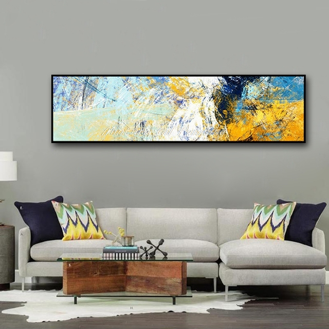 Aliexpress Com Buy Mintura Hand Painted Canvas Oil Painting Color