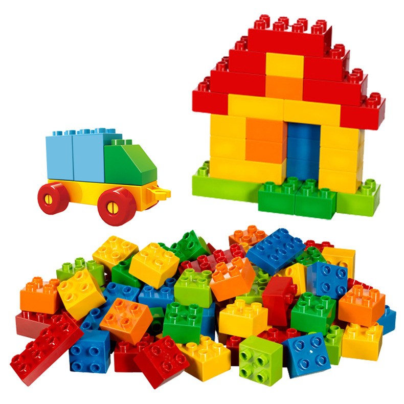 Big Classic Loose Creative DIY Building Blocks Compatible With Most Brand Large Plastic Brick Educational Toys For Kids umeile brand farm life series large particles diy brick building big blocks kids education toy diy block compatible with duplo