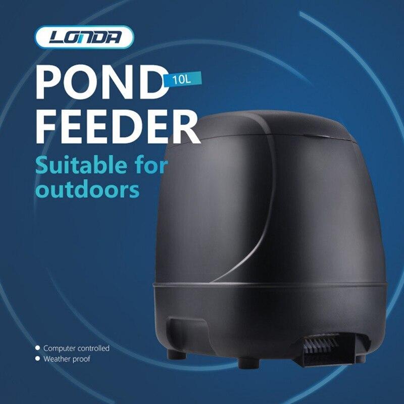 10L Aquatic Automatic Timing Switch Feeder For Super Large Capacity Koi Fish Pond Farm Auto Food Timer Feeding Dispenser