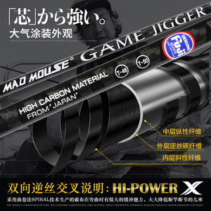 Image 5 - NEW JAPAN MADMOUSE 1.8M Full Fuji Parts Jigging Rod  PE 2 4 Lure Weight 60 200G Spinning / Casting Boat Rod Ocean Fishing Rod