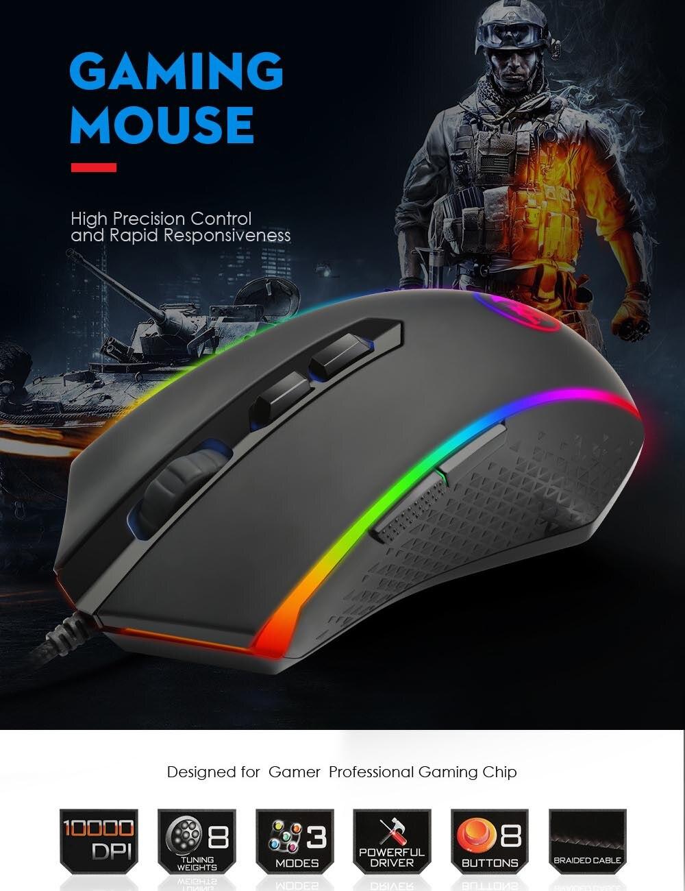 M710 новая RGB Проводная игровая мышь 8 кнопок эргономичный дизайн для настольного компьютера 10000 точек/дюйм Проводная игровая мышь RGB