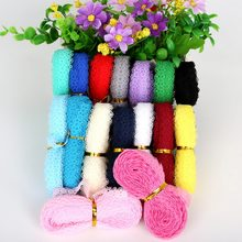 Bandeau en tissu brodé 5yards/lot | Filet, largeur 15mm, bandeau de vêtement avec ruban, accessoires décoratifs pour fête de mariage, bricolage