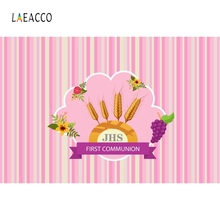 Laeacco Cartoon First Communion Party Decoration Baby Portrait Photo Backgrounds Customized Photography Backdrops Studio