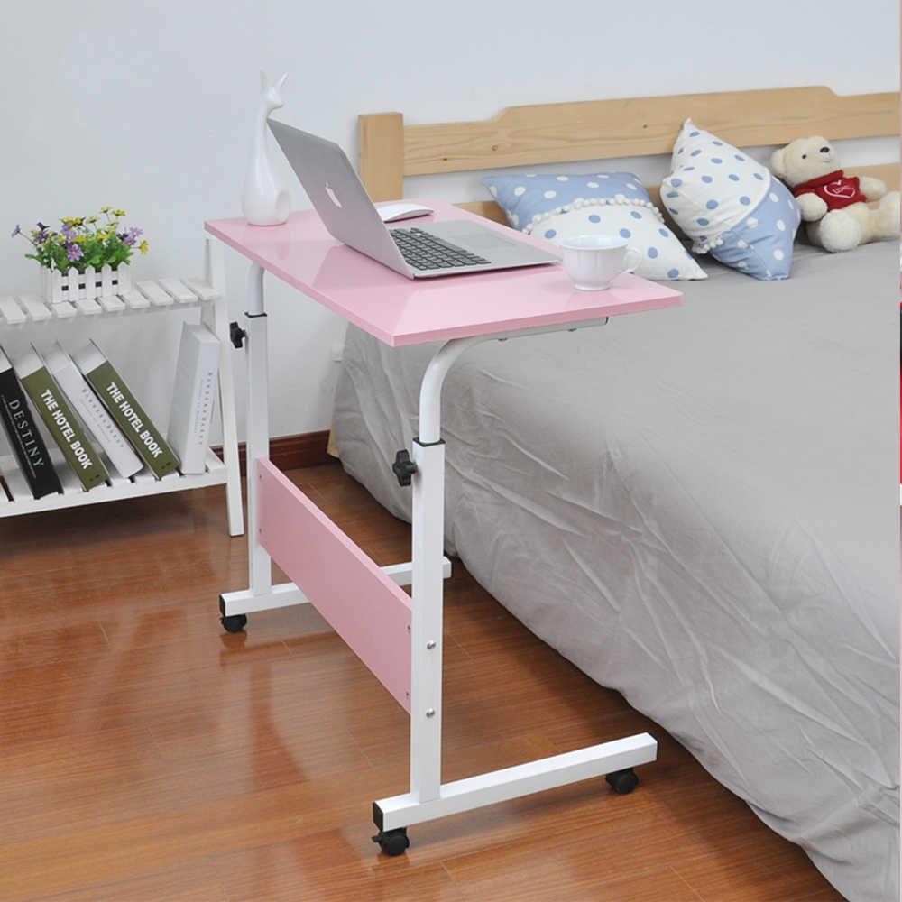 Mesa de ordenador portátil ajustable escritorio giratorio mesa de cama para ordenador se puede levantar Escritorio de pie 60*40CM