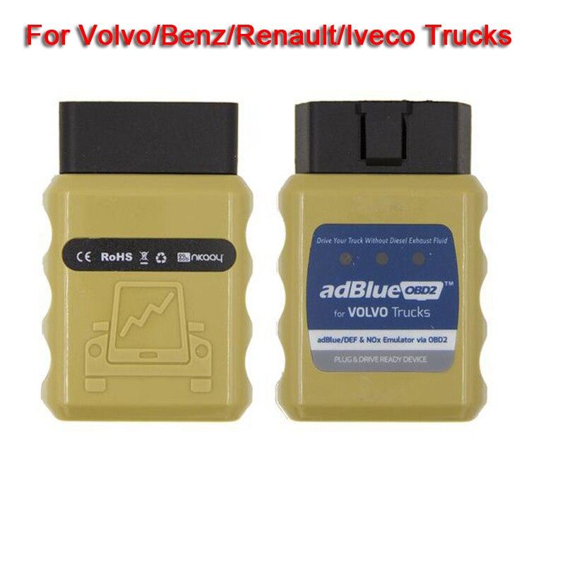AdblueOBD2 DEF Nox Emulator Via OBD2 Adblue OBD2 Support EURO 4/5/6 For Volvo Benz Renault Iveco Trucks Adblue Emulator adblue emulator 7in1 w programming adapter for benz man scania iveco daf volvo renault
