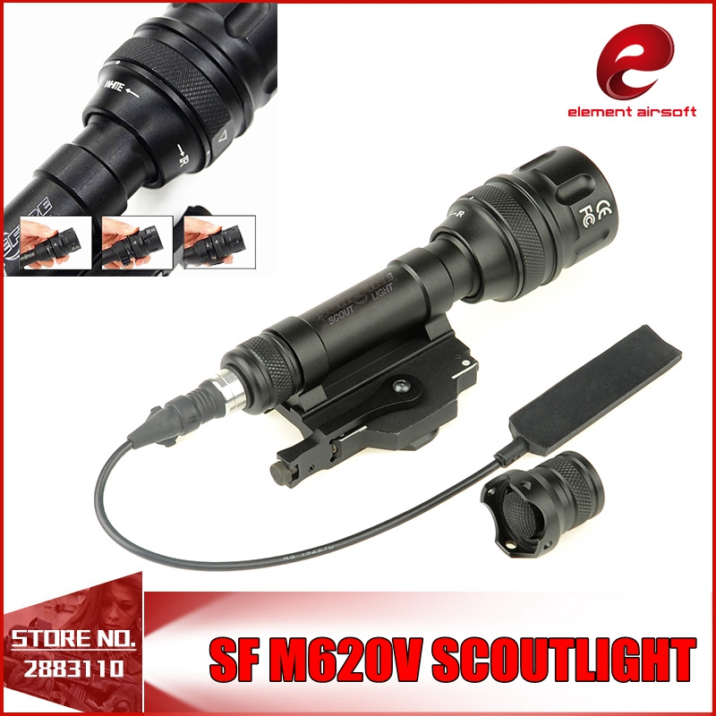 Element SF M620V Tactical Rifle Light Scout full version flashlight With Remote Tail QD Mount EX345 waterproof and shockproof wipson sf m600b mini scout light for tactical gun flashlight led weapon light pistol flashlight with remote tail switch