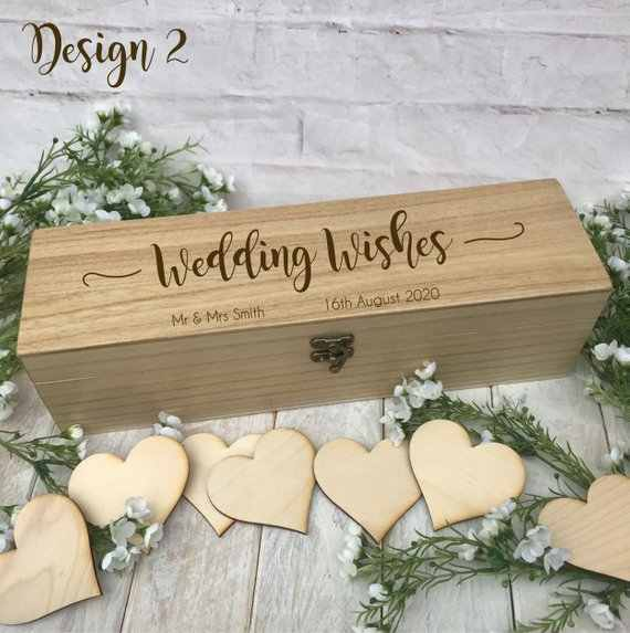 65463ea93aa5 ... customize Wood Rustic Vintage Wedding Guest Book Alternative Drop in  Wish Box Wishes birthday baby shower ...