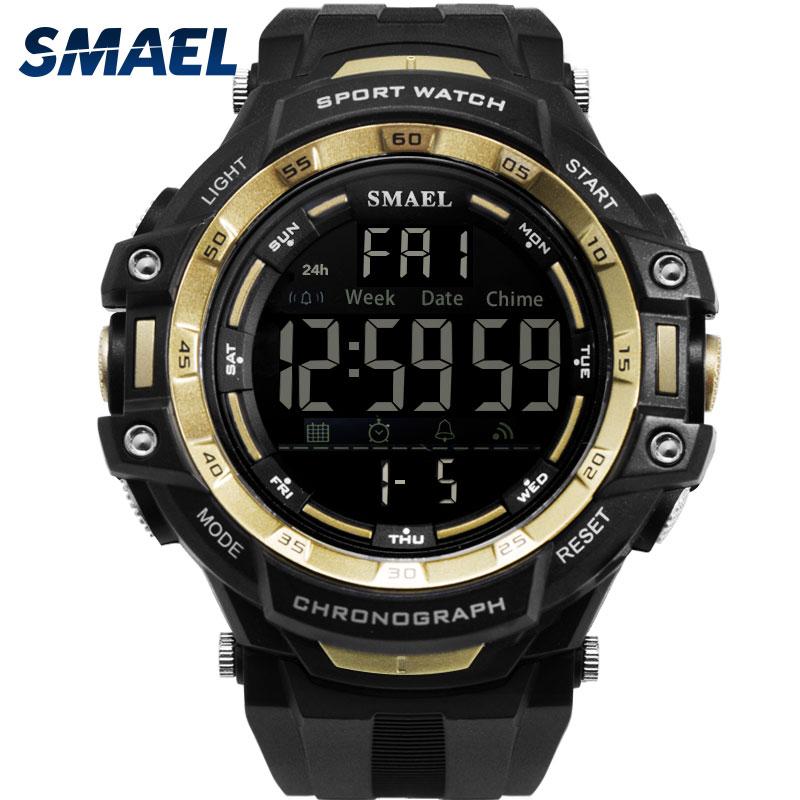 SMAEL New Sports Watches Men Outdoor Fashion Digital Watch Multifunction 50M Waterproof Wristwatches Man Relogio Masculino