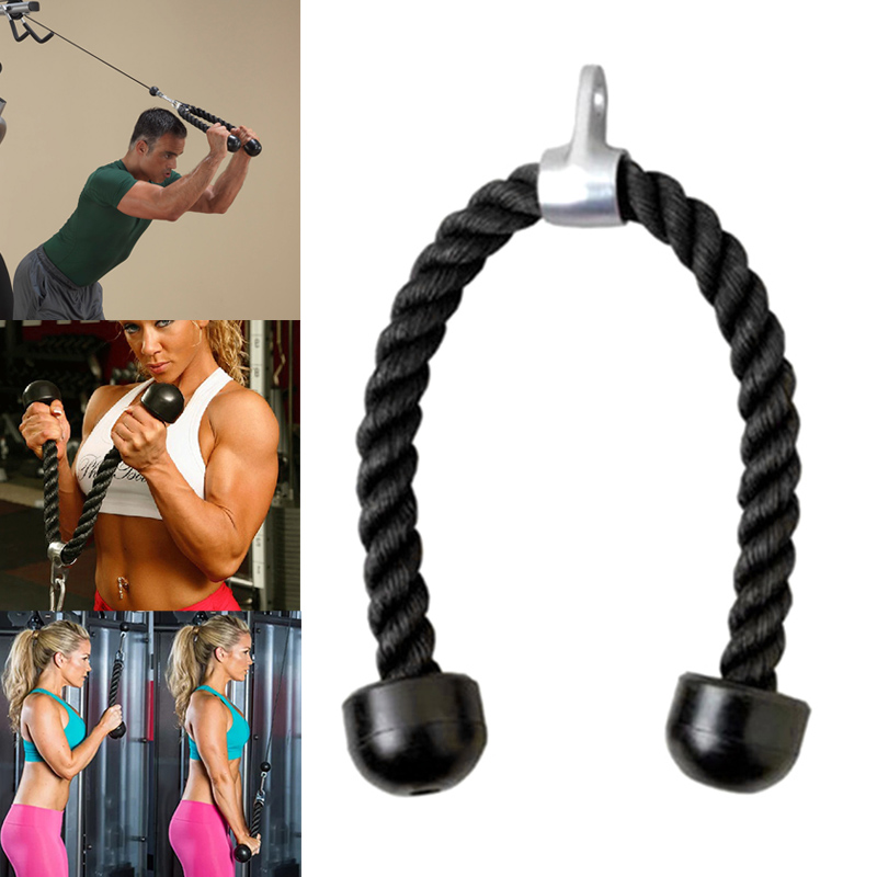 Gym Fitness Tricep Rope Biceps Strength Training Bodybuilding Exercise Equipment