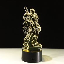 Hot sale Iron Man 3D three-dimensional remote control or touch night light LED table lamp