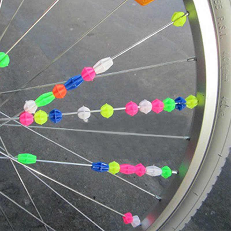 25pc Children Bicycle Bike Wheel Plastic Spoke Bead Clip Colored Decoration 36