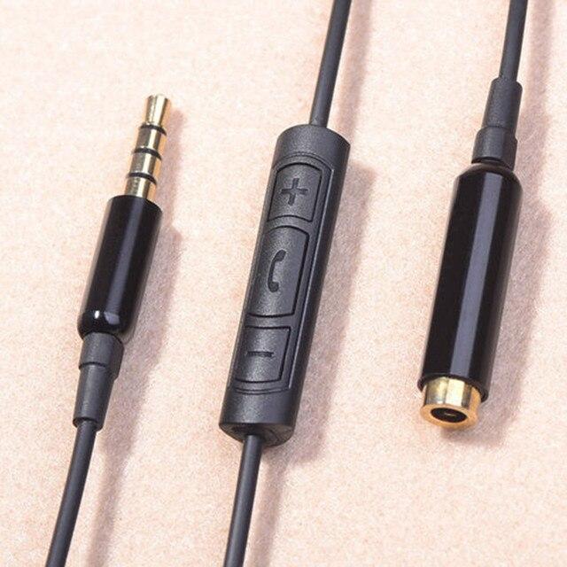3.5mm Audio Auricolare con Microfono Cavo di Prolunga Adattatore Per Cuffie  Microfono Cavo di estensione 506cc38364ae