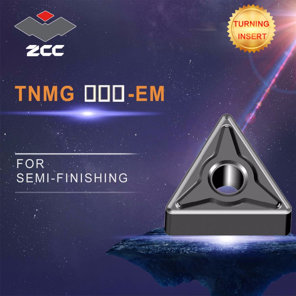 cnc inserts 10pcs lot TNMG220408 EM TNMG220412 EM lathe cutting tools coated cemented carbide turning inserts