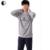 De algodón de Manga Larga Pijama O-cuello Para Hombre Primavera Otoño Hombres Pareja de Dormir Pijamas Set Mujeres Sleepshirts Homewear AP390