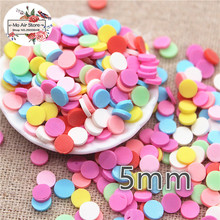 30g 5mm polymer clay mix color round slice flat nail Art Supply Decoration Charm Craft